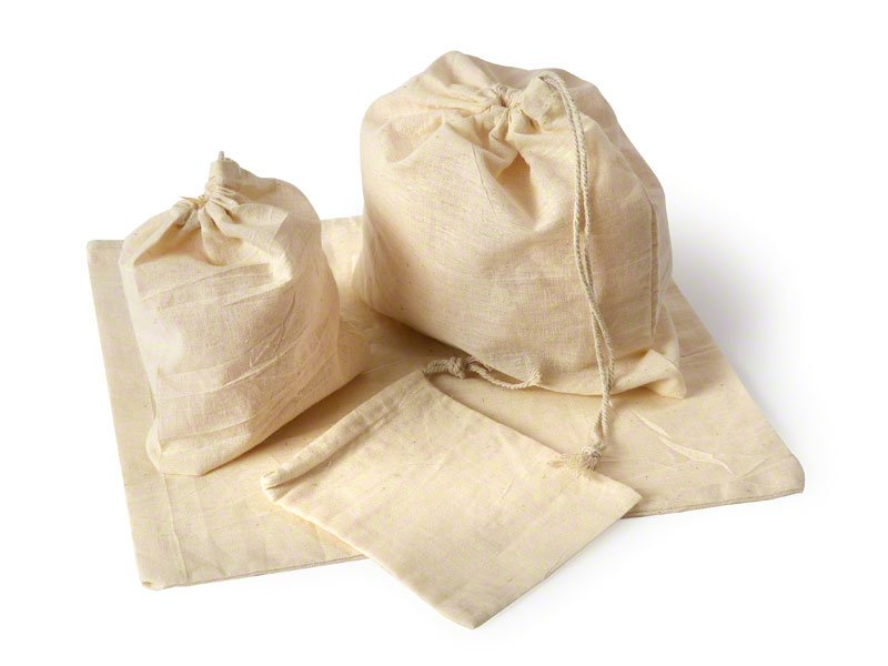 Natural calico bags. for ashes. Pet Urns.