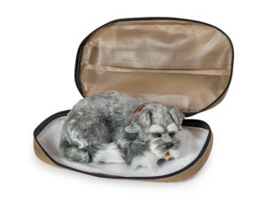 Amae bag - dignified transportation for your pet's last journey. Absorbent lining and identification features. Larger sizes feature carry handles.